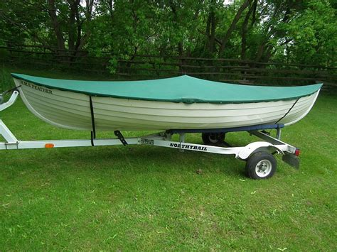 peapod boat maine peapod rowboat for sale 14 ft c w trailer cover