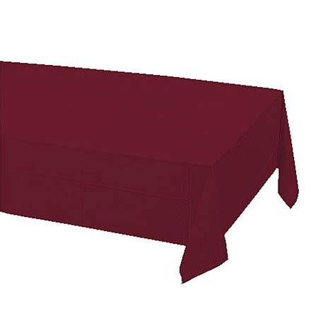 Plastic Table Covers by Burgundy Plastic Table Cover Shindigz