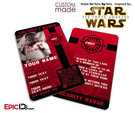 Wars Epic Duels Template For Your Own Cards by Wars Tfa Inspired The Order Security Badge