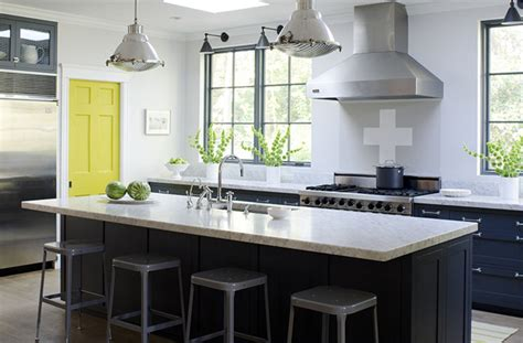 Yellow And Grey Kitchen by Stephmodo Gorgeous Gray Kitchen With Yellow Accents