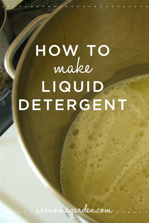 How To Make Homemade Laundry Detergent How To Make A Laundry