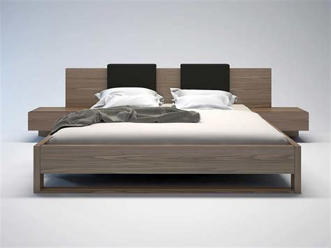 modern bed furniture monroe platform bed by modloft contemporary bedroom