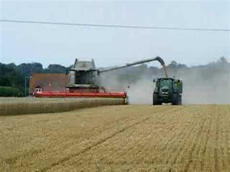 combining wheat youtube