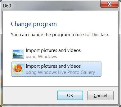 how do i import photos from my camera to my windows 7