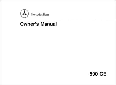 g class 463 gelaendewagen owners manuals and operating instructions english version 1993 500ge g class 463 gelaendewagen owners manual and operating instructions