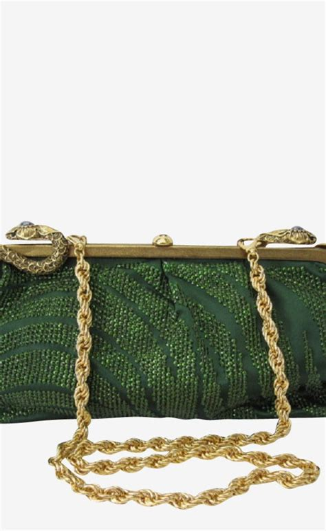 Roberto Cavalli Satin Serpent Clutch by 301 Moved Permanently