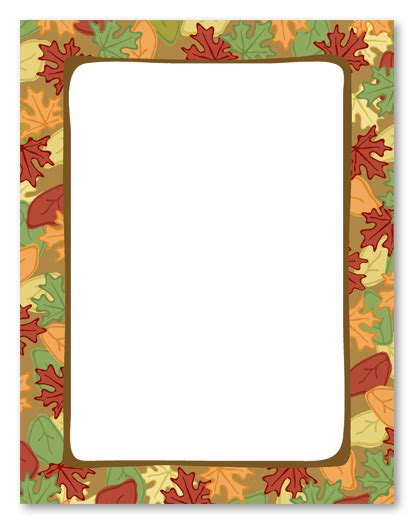 printable autumn stationery 7 best images of free fall printable stationery borders
