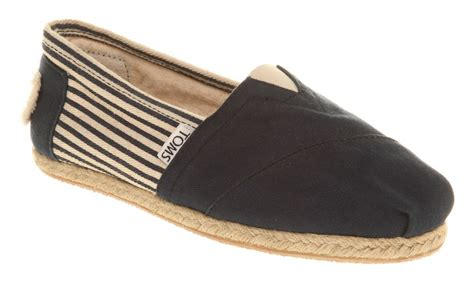 espadrilles shoes toms espadrilles in blue black lyst