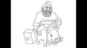 Play drawing tutorial how to draw clash of clans characters dragon