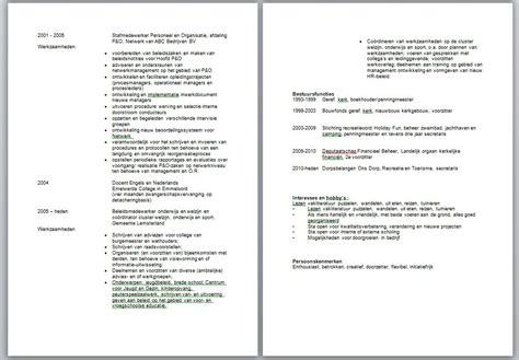 Curriculum Vitae Engels Template Frans Curriculum Vitae Voorbeeld Sollicitatieinfo Nl