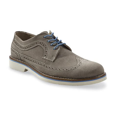 dockers oxford shoes dockers s edeson gray blue casual wingtip oxford shoe