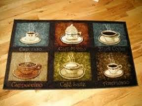 6 coffee flavors plush kitchen rug cafe decor