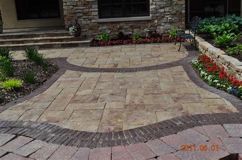 rockford brick paver landscape features brick paver driveway patio