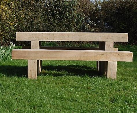railway sleeper bench cranham oak railway sleeper bench and table branson