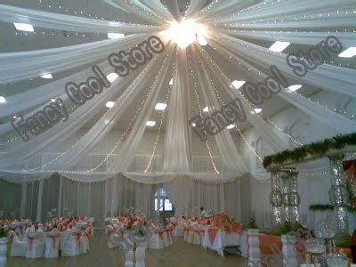 ceiling draping kits wholesale good quality 10pcs lot ceiling drape for wedding colorful