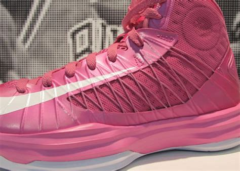 think pink basketball shoes nike lebron think pink breast cancer awareness