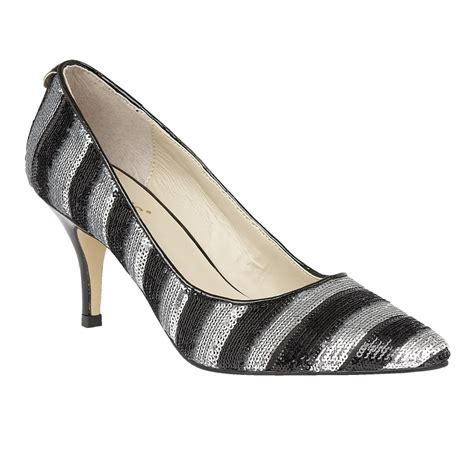 sequin shoes black silver mosta sequin court shoes lotus shoes