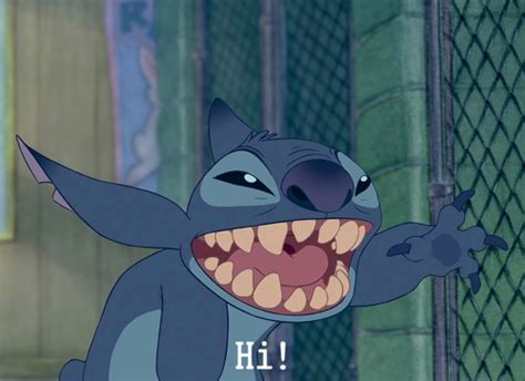Stitch Hi Meme - image about smile in disney by saory on we heart it