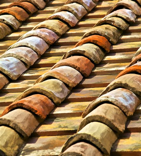 Terracotta Roof Tiles Aged Terracotta Roof Tiles Ii Photograph By David Letts