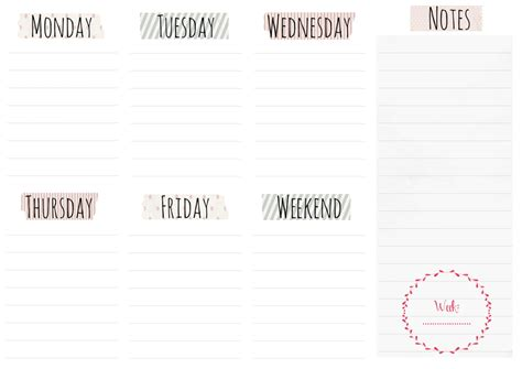 2014 day planner free printables quot popular pins free weekly planner printables elan creative co