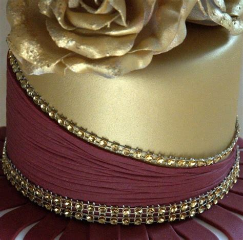 gold wedding cake decorations burgundy and gold wedding color palette for 2015