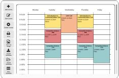 Free Online Schedule Maker Very Easy To Use Could Be Used For Both Class And Personal School Schedule Maker Template