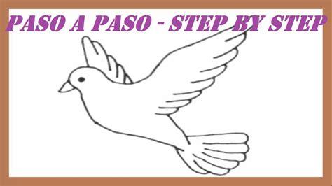paso a paso como dibujar una paloma de la paz paso a paso l how to