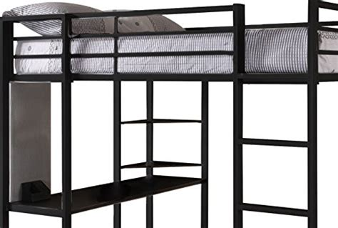 Dhp Abode Full Size Loft Bed Metal Frame With Desk And Metal Frame Loft Bed With Desk