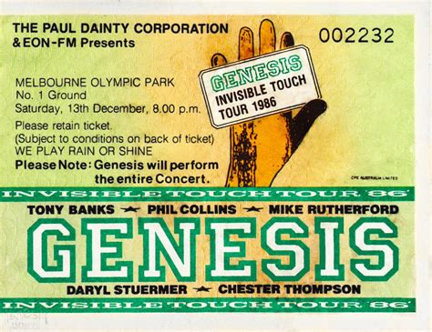 genesys melbourne ticket genesis the melbourne olympic park 13th
