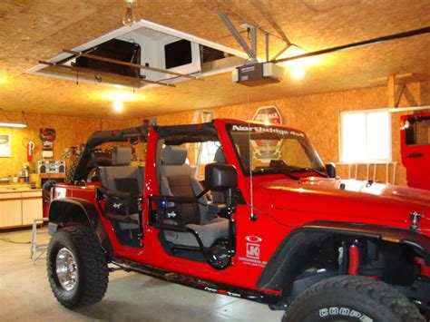 jeep pulley system jeep top garage hoist 2017 2018 best cars reviews