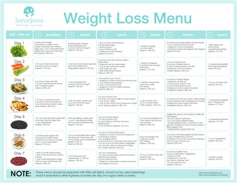 Rehab Weight Loss And Diet by Weight Loss Diet Sle Menu
