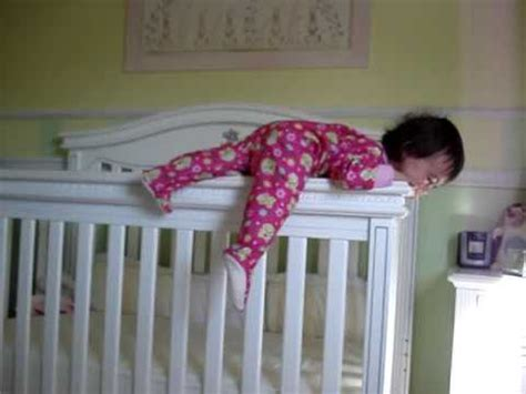 Baby Climbing Out Of Crib At 13 Months Youtube Babies Climbing Out Of Cribs