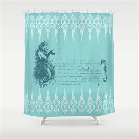 mermaid shower curtain mermaid shower curtain vintage mermaid and by