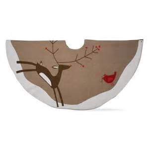prancing reindeer tree skirt