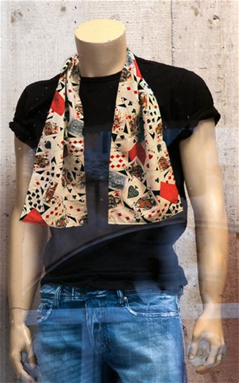 Playing Card Scarf Scarves Pinterest Scarfs