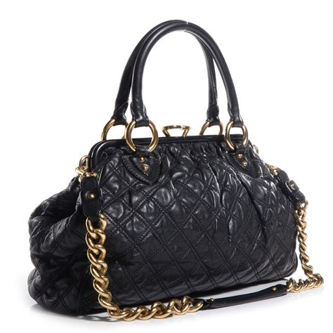 marc quilted leather stam black 71140