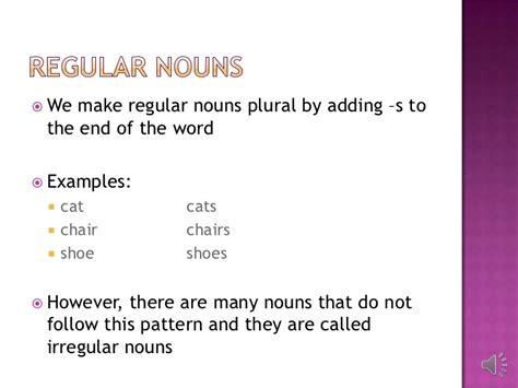 sentence pattern regex irregular plural nouns