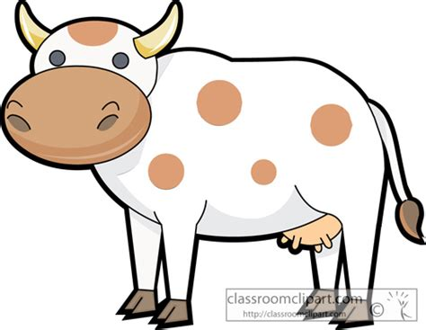 Animal Character 04 cow clipart cow animal characters 04b classroom clipart