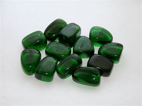 Green Obsidian tumbled green obsidian