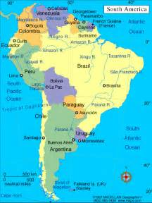 usa and south america map south america globalization