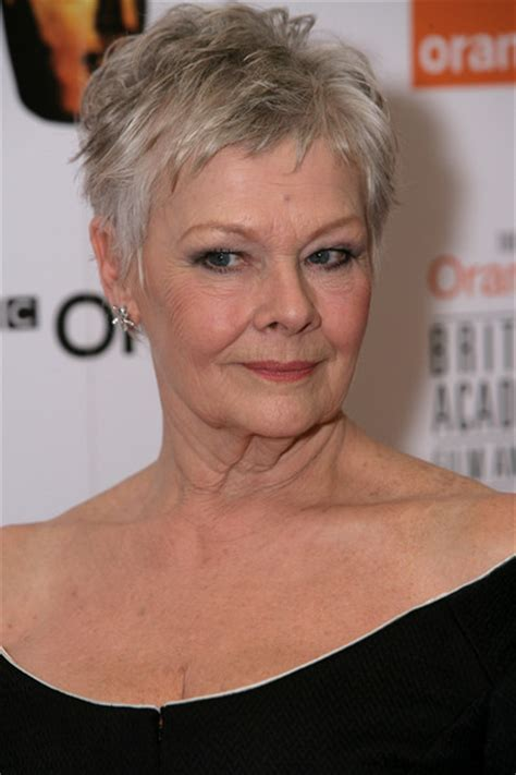 judi dench haircut back of head judi dench hairstyle front and back of head