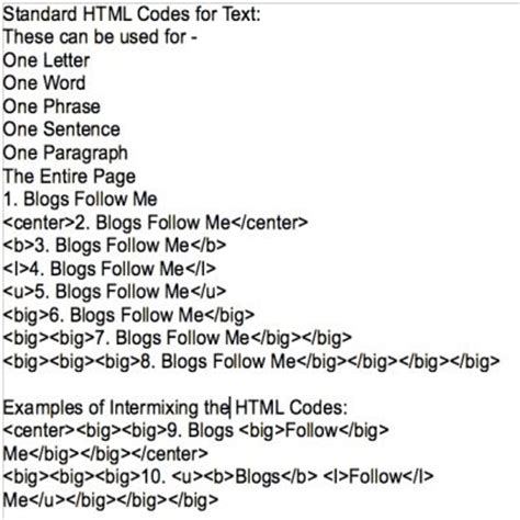 blogs follow me: google blogging tip # 56: standard html
