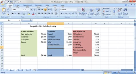 tutorial excel budget best excel tutorial how to create a company budget