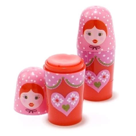 Lip Balm Harajuku Doll russian doll lip balm babushka cherry apple or vanilla mad