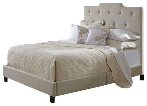 High Upholstered Headboards by Pri All In One Fully Upholstered High Back Bed In Transitional Panel Beds By Cymax