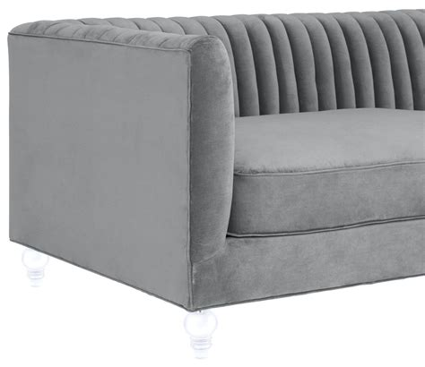 aviator grey velvet sofa from tov tov s86 coleman