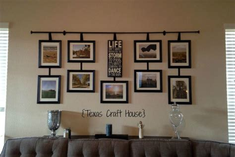 how to hang your pictures coach house art wall d 233 cor curtain rod with hanging frames texas craft house