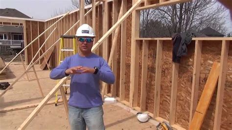 how to frame a house how to build a house framing first floor walls ep 33