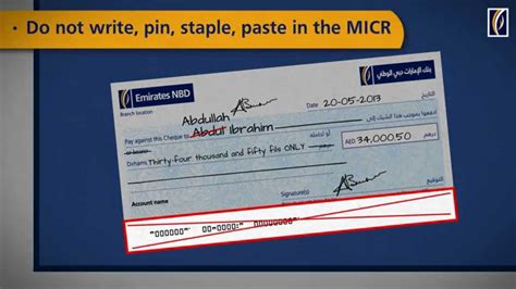 how to make credit card payment by cheque cheque writing do s and dont s emirates nbd