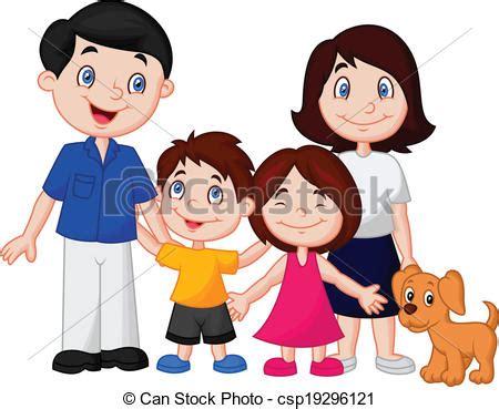 imagenes sobre la familia en caricatura ilustraciones de vectores de caricatura familia feliz